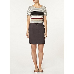 Dorothy Perkins - Charcoal cotton polin skirt