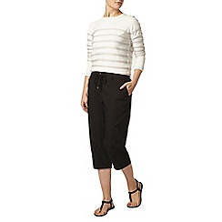 Dorothy Perkins - Black cotton polin crop trousers