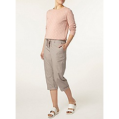 Dorothy Perkins - Mink cotton poplin crop trousers