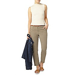 Dorothy Perkins - Khaki belted chino trouser