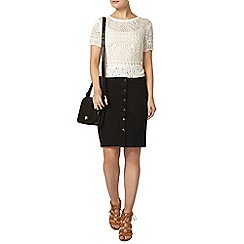 Dorothy Perkins - Black button front skirt