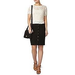 Dorothy Perkins - Black button front skirt