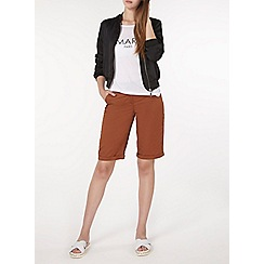 Dorothy Perkins - Tall cinnamon sateen knee shorts