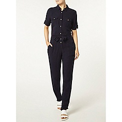 Dorothy Perkins - Navy shirt jumpsuit