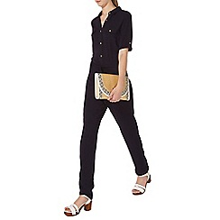 Dorothy Perkins - Tall navy shirt jumpsuit