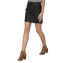 Dorothy Perkins - Black pu mini skirt