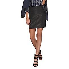Dorothy Perkins - Tall black pu mini skirt