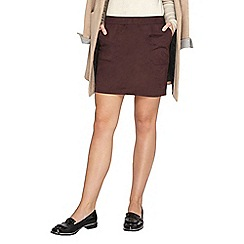 Dorothy Perkins - Raisin patch pocket suedette skirt