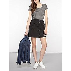 Dorothy Perkins - Black stretch twill skirt