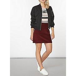 Dorothy Perkins - Burgundy cord skirt