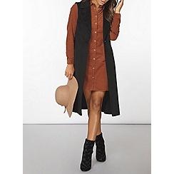 Dorothy Perkins - Pecan cord shirt dress