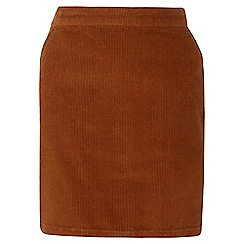 Dorothy Perkins - Tall tan cord skirt