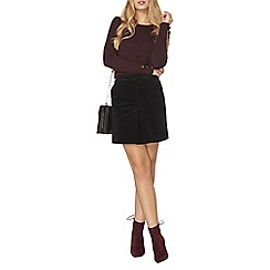Dorothy Perkins - Midnight cord box skirt