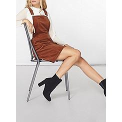 Dorothy Perkins - Pecan dungaree cord pinafore dress