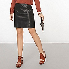Dorothy Perkins - Black snake skirt