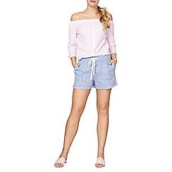 Dorothy Perkins - Chambray linen shorts