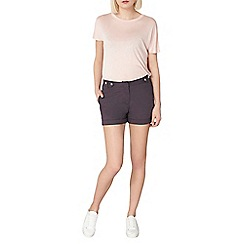 Dorothy Perkins - Charcoal poplin shorts