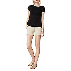 Dorothy Perkins - Stone poplin shorts