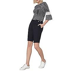 Dorothy Perkins - Navy poplin knee short