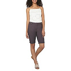 Dorothy Perkins - Charcoal poplin knee shorts
