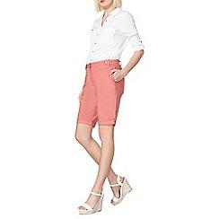 Dorothy Perkins - Pink poplin knee shorts