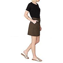 Dorothy Perkins - Khaki poplin skirt