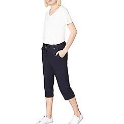 Dorothy Perkins - Navy poplin cropped shorts