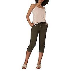 Dorothy Perkins - Khaki cotton crop trousers