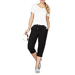 Dorothy Perkins - Black poplin cropped shorts