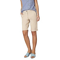 Dorothy Perkins - Stone chino knee shorts