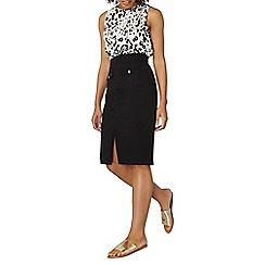 Dorothy Perkins - Black chino midi skirt