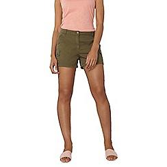 Dorothy Perkins - Khaki utility cargo shorts