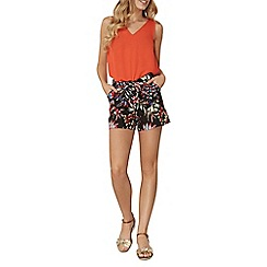 Dorothy Perkins - Tropical printed linen shorts