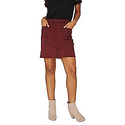 Dorothy Perkins - Berry suedette mini skirt