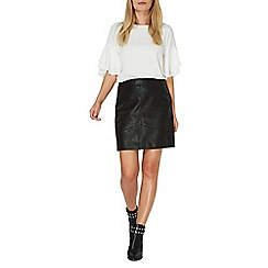 Dorothy Perkins - Black volume pu mini skirt