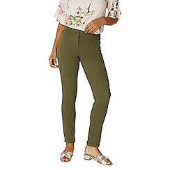Dorothy Perkins - Khaki sateen chino trousers