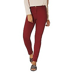 Dorothy Perkins - Burgundy sateen chino trousers