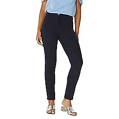 Dorothy Perkins - Navy sateen chino trousers