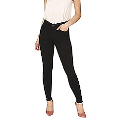 Dorothy Perkins - Petite black 'bailey' super skinny stretch jeans