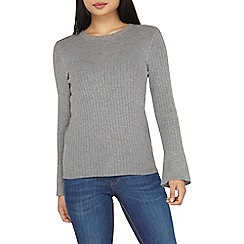 Dorothy Perkins - Petite grey flute sleeves jumper