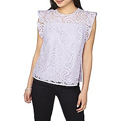 Dorothy Perkins - Petite lilac lace shell top