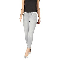 Dorothy Perkins - Petite grey abrasion 'darcy' jeans