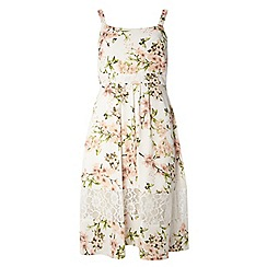 Dorothy Perkins - Petite ivory butterfly print midi dress