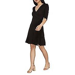 Dorothy Perkins - Petite black wrap tie dress