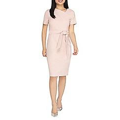 Dorothy Perkins - Petite blush asymmetric belted shift dress