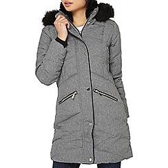 Dorothy Perkins - Petite smart grey padded coat