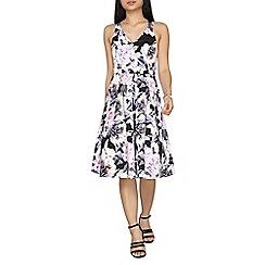 Dorothy Perkins - Petite floral print cross back prom dress