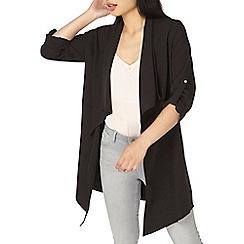 Dorothy Perkins - Petite black waterfall duster jacket