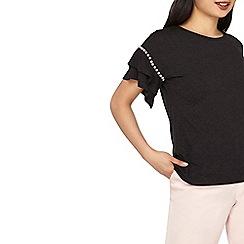 Dorothy Perkins - Petite pearl flute sleeves t-shirt