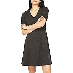Dorothy Perkins - Petite charcoal ruched sleeve dress